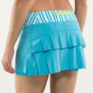 Lululemon Blue Pace Runner Tennis Skirt